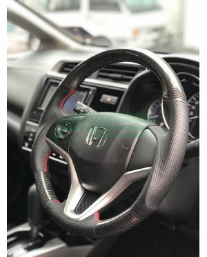 Carbon Fiber Steering Wheel Honda Jazz GK