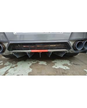 Rear Diffuser Blades Fins Carbon  Fiber Nissan GTR R35